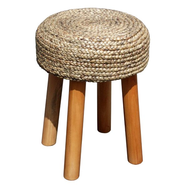 Island Woven Round Accent Stool by D-Art Collection