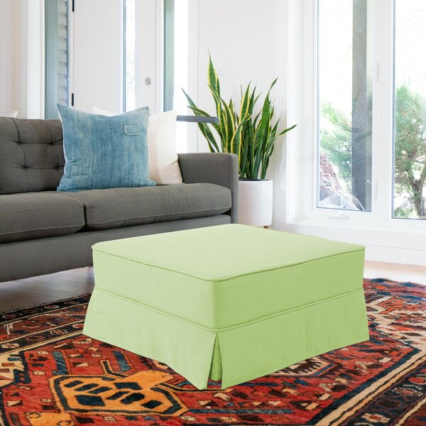 Fenham Square Skirted Pouf by Rosecliff Heights