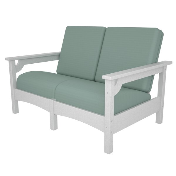 Club Settee Loveseat with Cushions by POLYWOOD®
