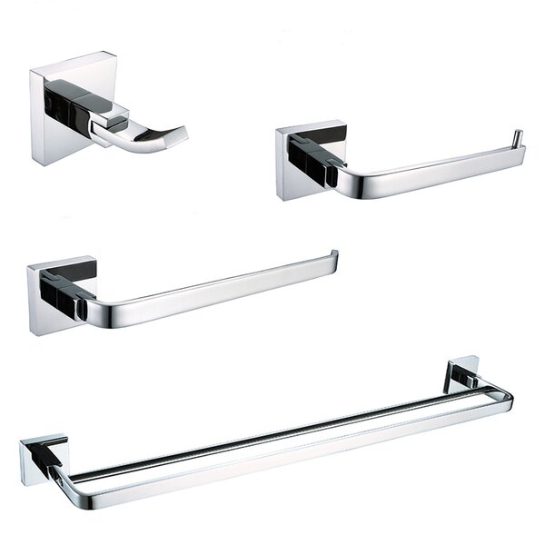 Alessia 4 Piece Bathroom Hardware Set by Ancona