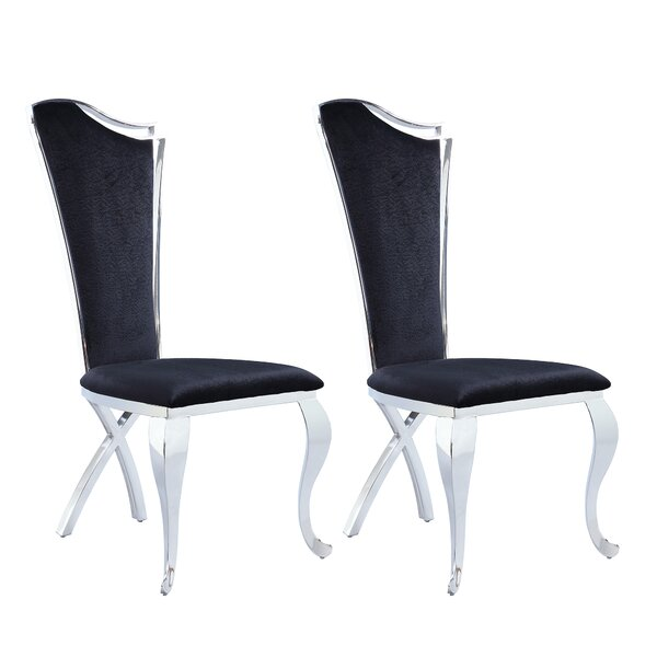 Nadia Upholstered Dining Chair (Set of 2) by Willa Arlo Interiors Willa Arlo Interiors