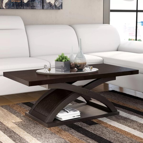 Annica Cross Legs Coffee Table With Storage By Wade Logan