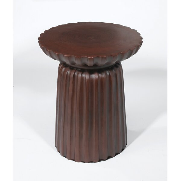 Bineau Pedestal End Table by World Menagerie