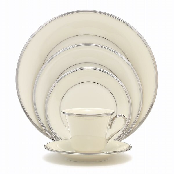 Solitaire Bone China 5 Piece Place Setting, Service for 1 by Lenox