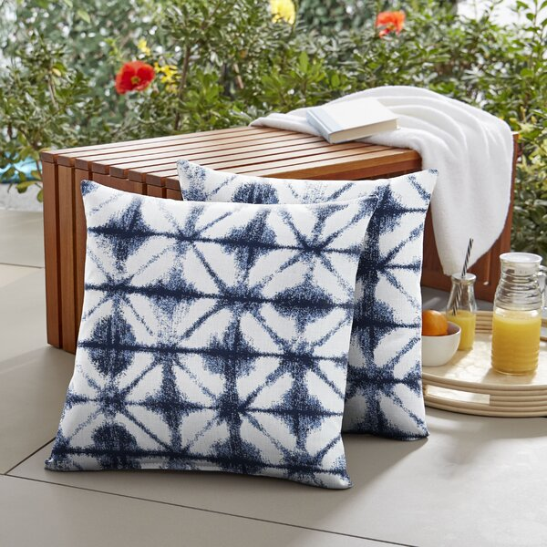 Nigel Indoor/Outdoor Throw Pillow (Set of 2) by Bungalow Rose
