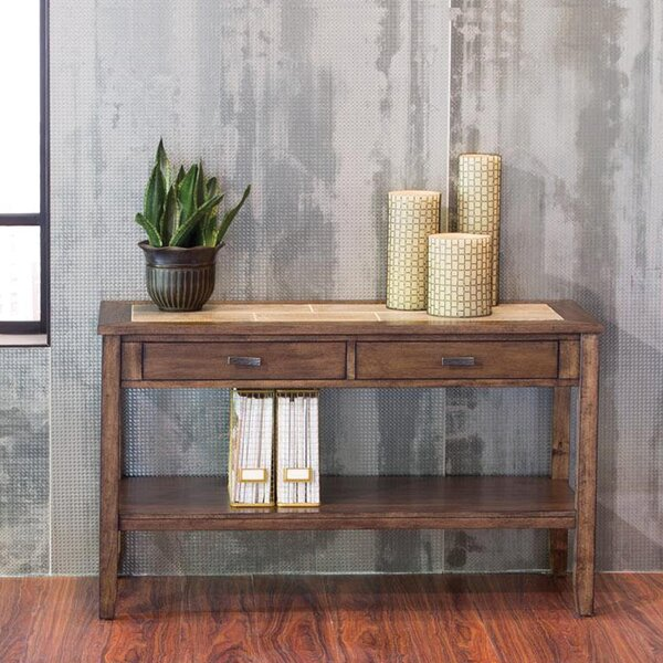 Review Gauna Wood Console Table