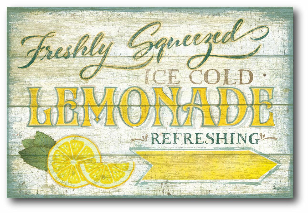 courtside market farmhouse canvas lemonade sign vintage
