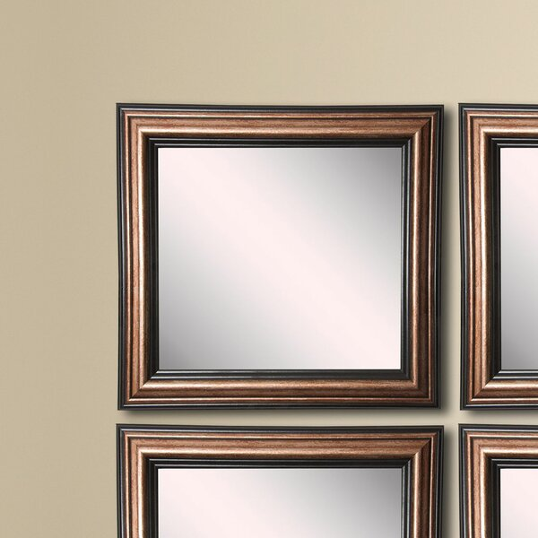 Kimzey Bronze Wall Mirror (Set of 4) by Charlton Home