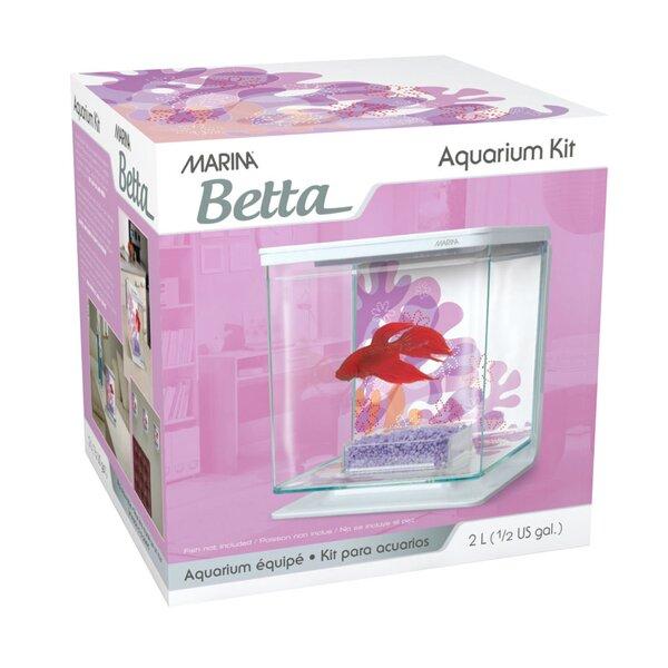 Marina 0.5 Gallon Flower Design Betta Aquarium Kit by Marina by Hagen