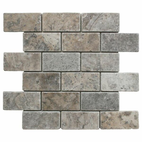 2 x 4 Travertine Brick Joint Mosaic Wall & Floor Tile