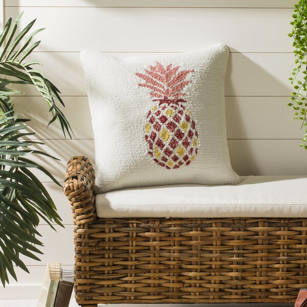 DeBary Pure Pineapple Outdoor Throw Pillow by Wrought Studio