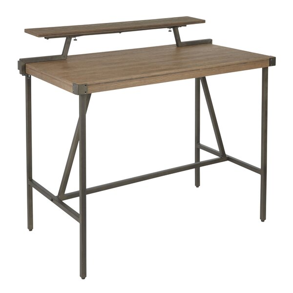 Griggs Industrial Counter Height Solid Wood Dining Table by 17 Stories