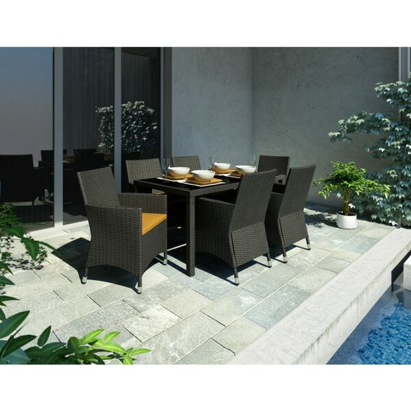 Bergenia 7 Piece Dining Set with Cushion by Brayden Studio