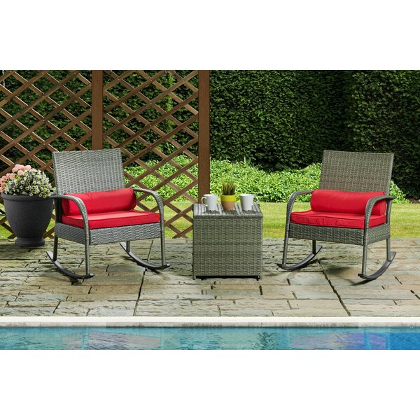 Alkire 3 Piece 2 Person Seating Group with Cushions by Alcott Hill
