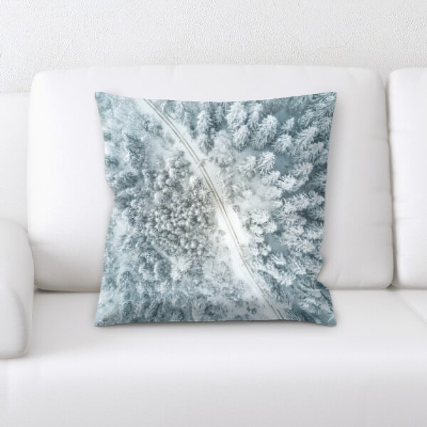 Winter Feeling (230) Throw Pillow by Rug Tycoon