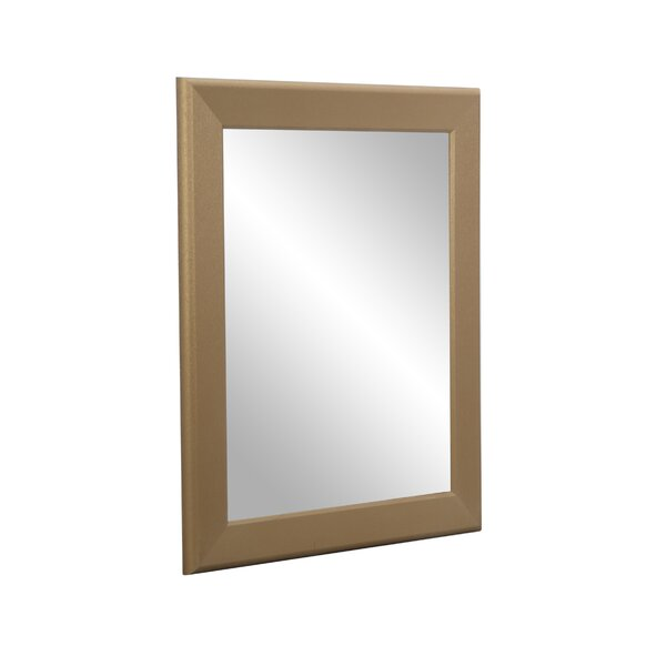 Hornell Gold Grain Wall Mirror by Charlton Home