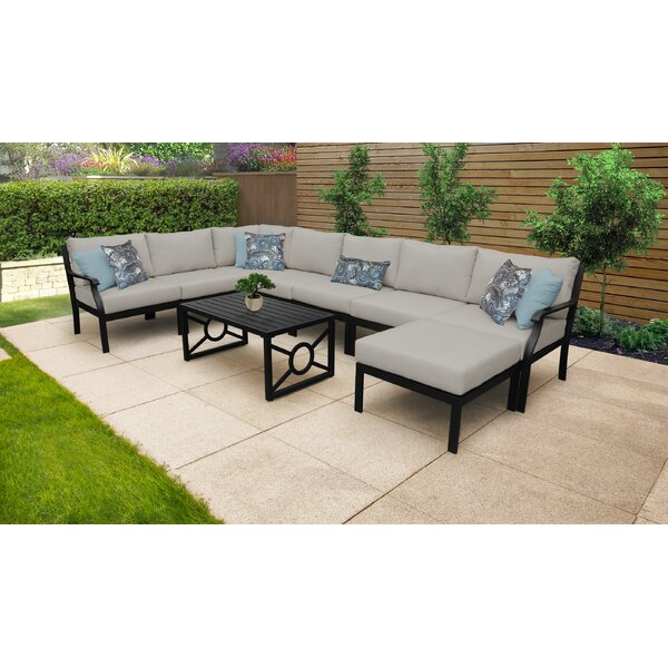 Madison Ave. 9 Piece Sectional Seating Group with Cushions by Darby Home Co