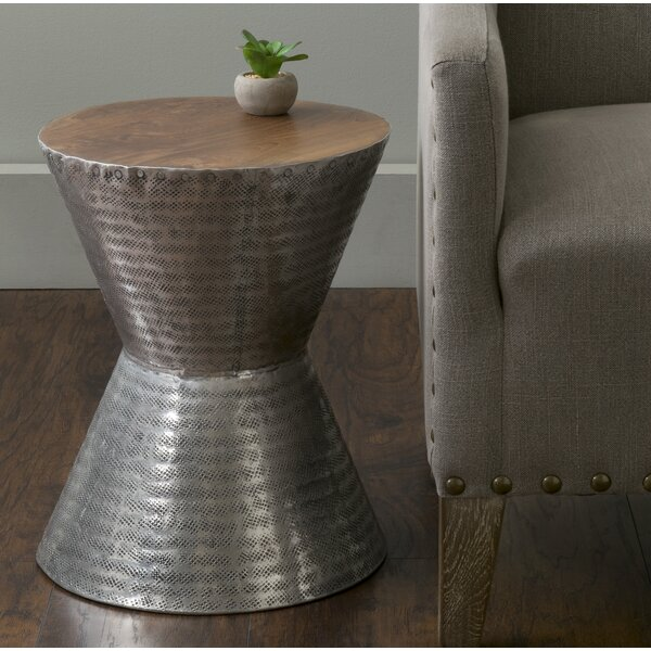 Adassil Drum End Table By World Menagerie