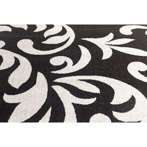 Knoxville Black/Gray Area Rug by Charlton Home
