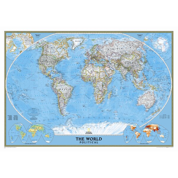 World Classic Wall Map by National Geographic Maps