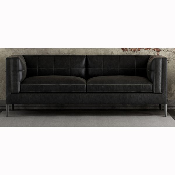 Vanda Top Grain Leather Loveseat by Orren Ellis