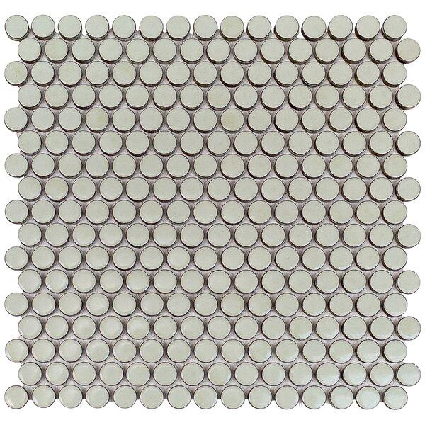 Bliss 0.75 x 0.75 Ceramic Mosaic Tile in Sage by Splashback Tile