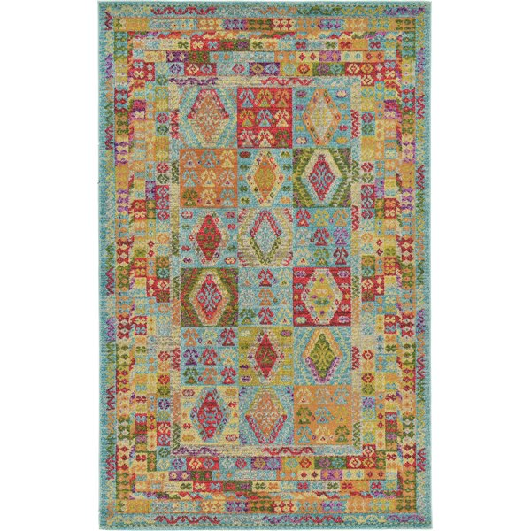 Phillips Light Blue Area Rug by Bungalow Rose