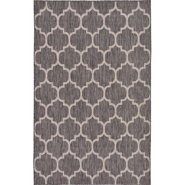 Ernestine Black Indoor/Outdoor Area Rug by Charlton Home