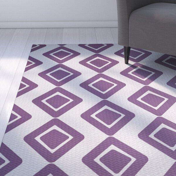 Abbie Purple Indoor/Outdoor Area Rug by Ebern Designs