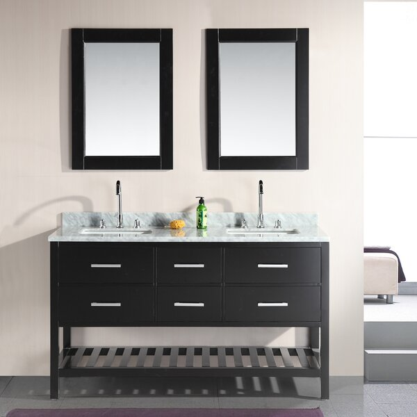 Middletown 61 Double Bathroom Vanity Set with Mirror by Andover Mills