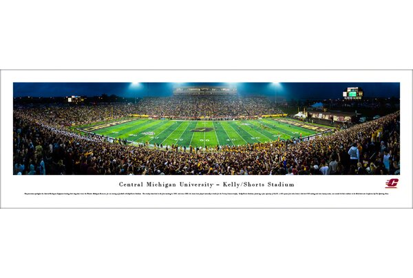 NCAA Central Michigan Football 50 Yard Line Photographic Print by Blakeway Worldwide Panoramas, Inc