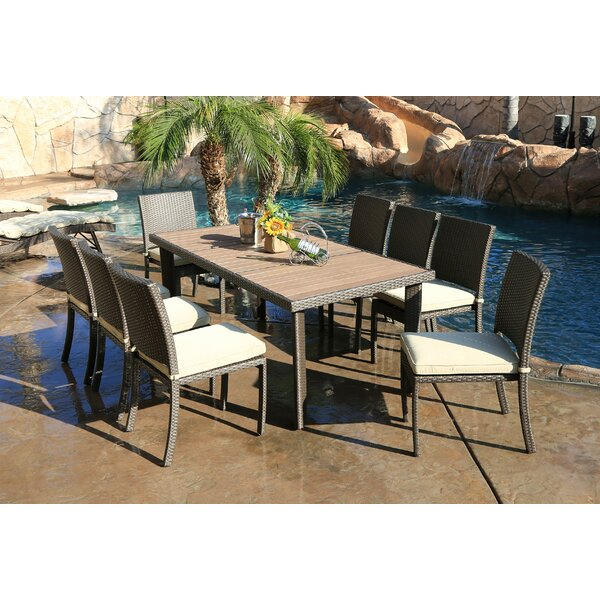 Heffington 9 Piece Dining Set with Cushion by Latitude Run