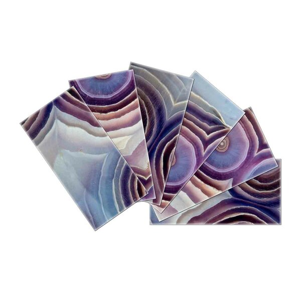 Crystal Skin 3 x 6 Glass Subway Tile in Violet/Gray by SkinnyTile