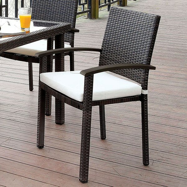 Kalel Patio Dining Chair with Cushion by Latitude Run
