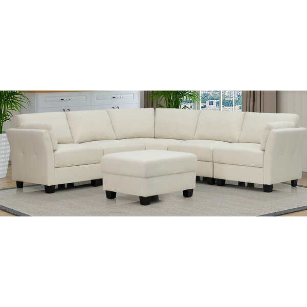 Thirsk Symmetrical Sectional With Ottoman By Red Barrel Studio