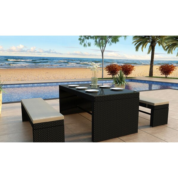 Staton 3 Piece Dining Set with Cushions
