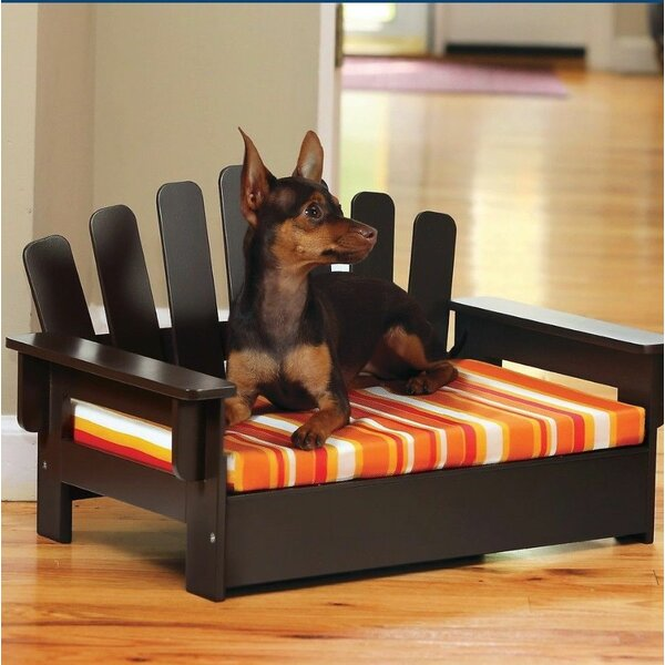 Katherine Indoor Outdoor Wooden Dog Sofa with Cushion by Tucker Murphy Pet
