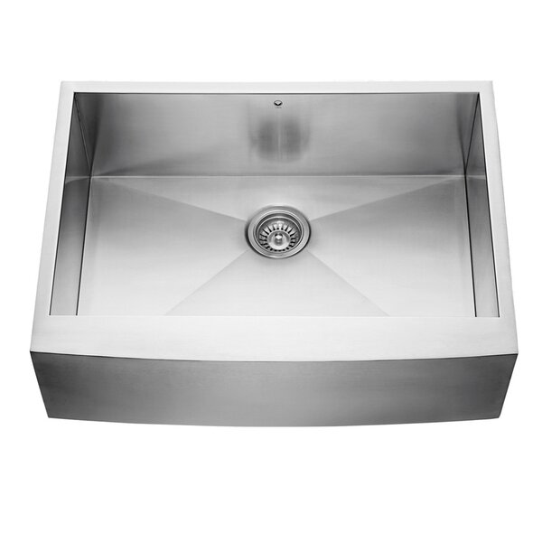 Alma 30 L x 22.5 W Farmhouse Apron 16 Gauge Stainless Steel Kitchen Sink by VIGO