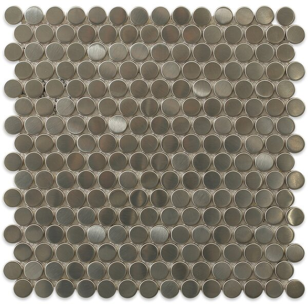 Stainless Steel 0.75 x 0.75 Metal Mosaic Tile in Brushed Silver by Splashback Tile