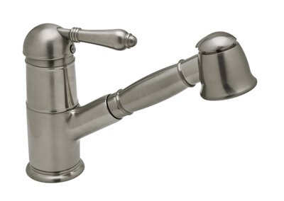 Pullout One Handle Single Hole Kitchen Faucet with Lever Handle by Rohl