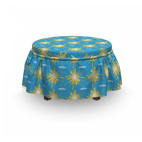Sunny Day And Clouds Ottoman Slipcover (Set Of 2) By East Urban Home