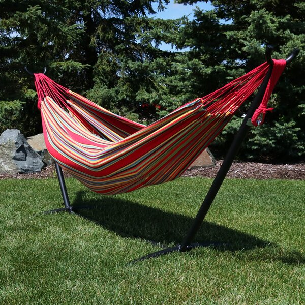 Rylie Cotton Hammock with Stand by Freeport Park