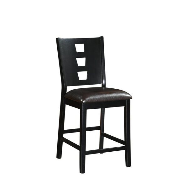 Park Place Wood and Leather 24 Bar Stool (Set of 2) by Bloomsbury Market