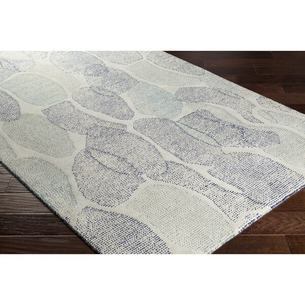 Digby Hand-Tufted Gray/Blue Area Rug by Ebern Designs