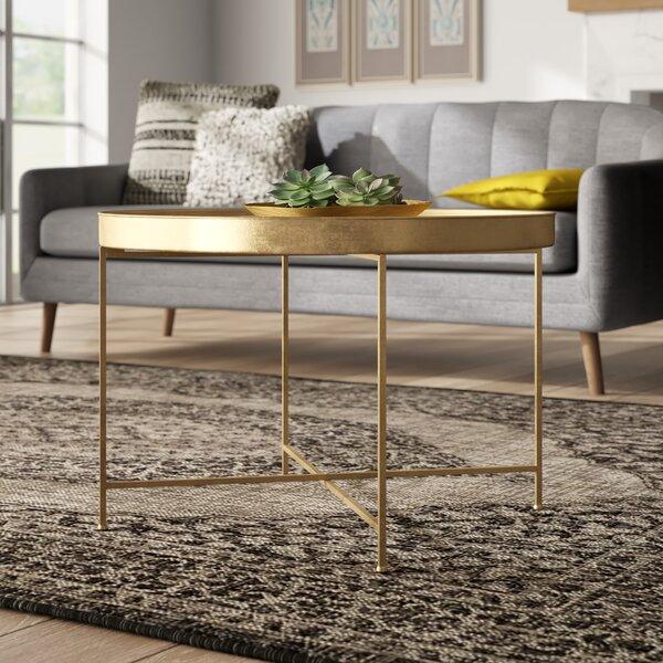 Kriebel Metal Foldable Lift Top Cross Legs Coffee Table By Bungalow Rose