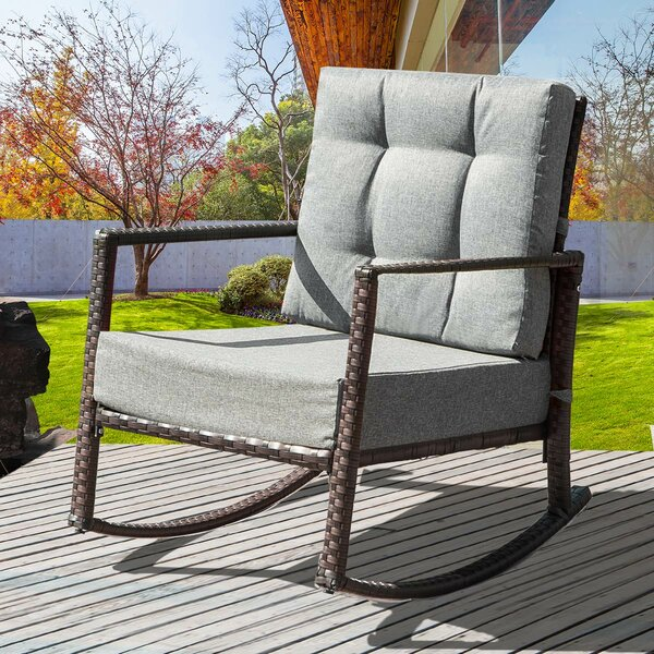 Dania Rocking Chair with Cushions by Ivy Bronx