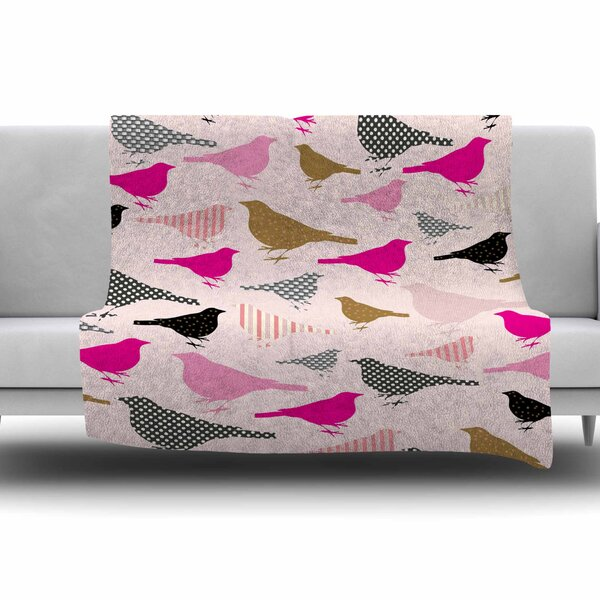 Chirp by Suzanne Carter Fleece Blanket by East Urban Home