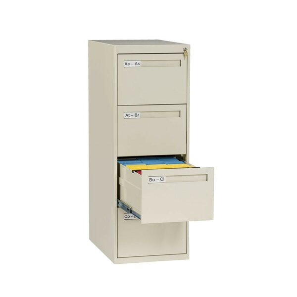4 Drawer Vertical Legal Size File Cabinet by Tennsco Corp.