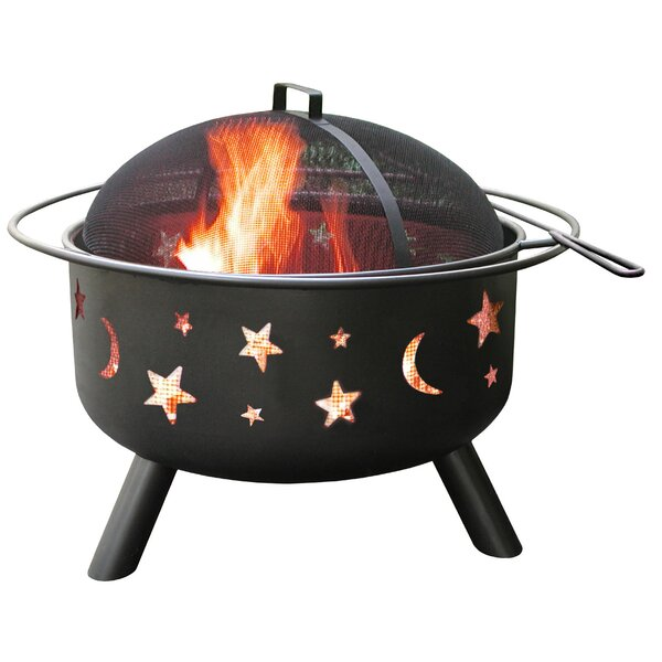 Big Sky Stars and Moon Steel Wood Burning Fire Pit by Landmann