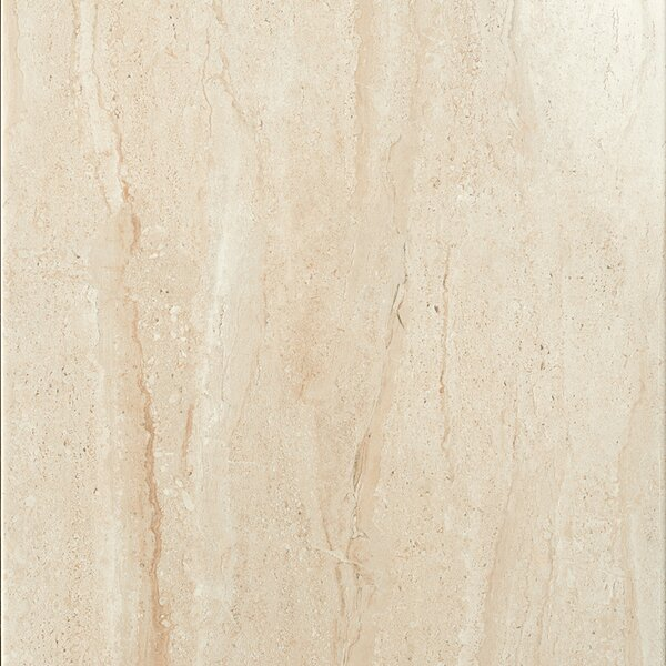 Travertini 16.75 x 16.75 Porcelain Field Tile in Polished Beige by Samson